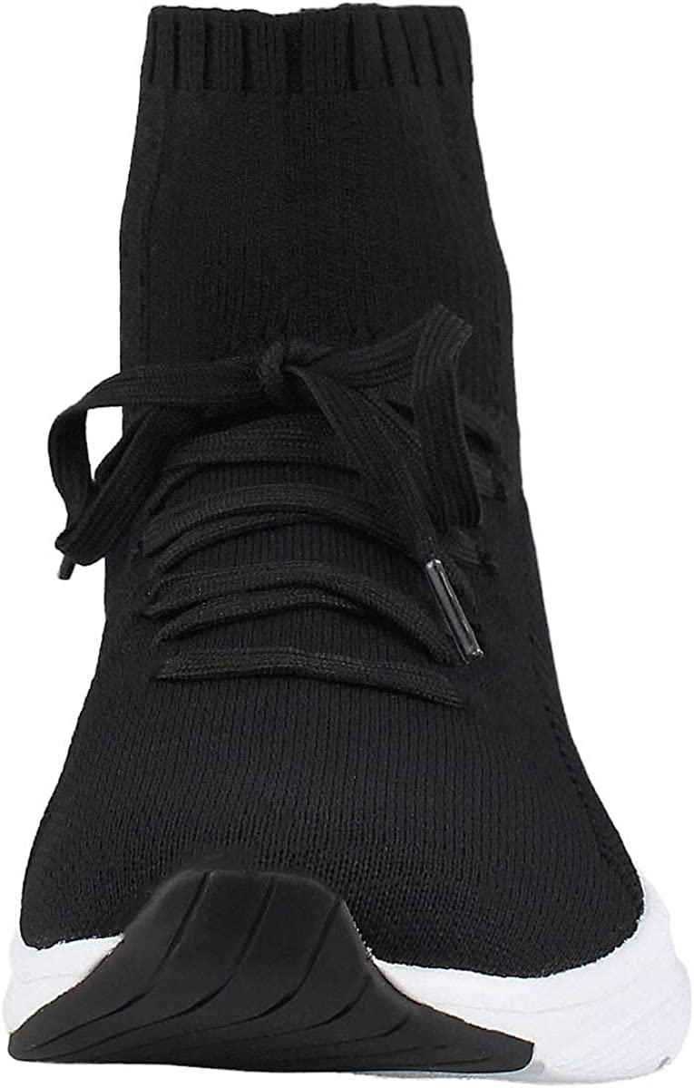 Skechers Women's Meridian Montae Slip On Sock Sneaker Black/White