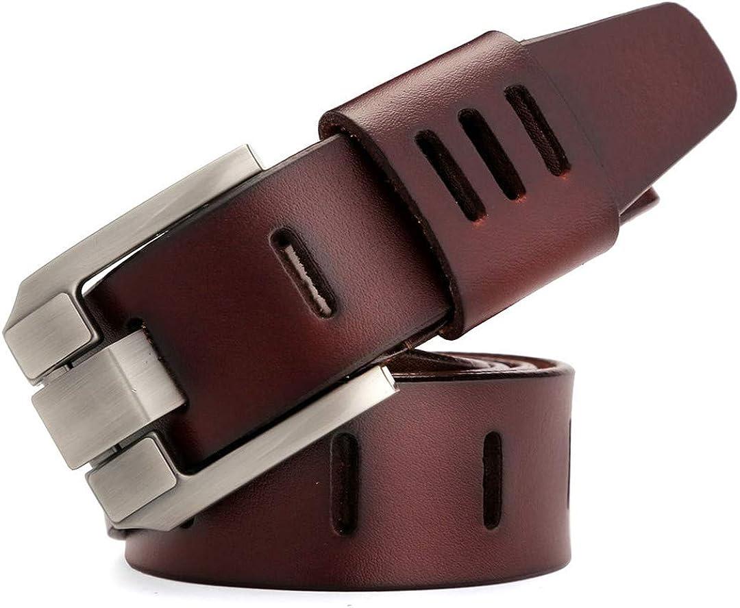 JUIHUGN Designer Belts Men Genuine Leather Belt for Men Luxury Homme Military Style 130CM MU012 Black 125cm
