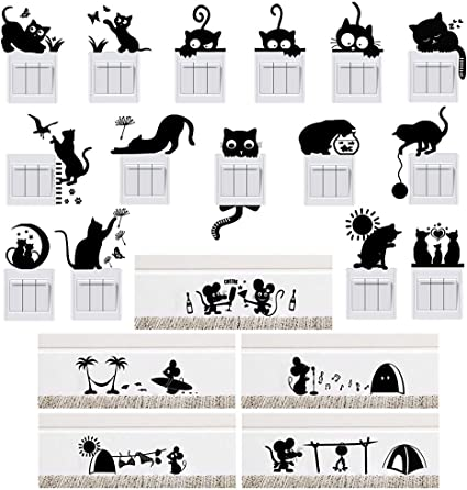 Souris couple Home Wall Art Sticker Vinyl Decal Stickers for Home Plinthe