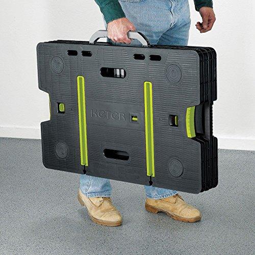 Portable Garage Hardware : Keter compact portable folding garage workbench work table