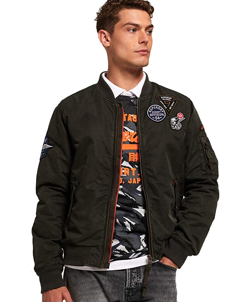 e553f0c84 Superdry Men's Limited Issue Flight Bomber Jacket at Amazon Men's ...
