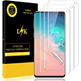LK [3 Pack] Screen Protector for Samsung Galaxy S10, [HD Clear][Case-Friendly] Bubble-Free with Lifetime Replacement Warranty