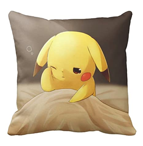 Pokemon Pikachu - Almohada (40 x 40 cm), diseño de pikachu ...