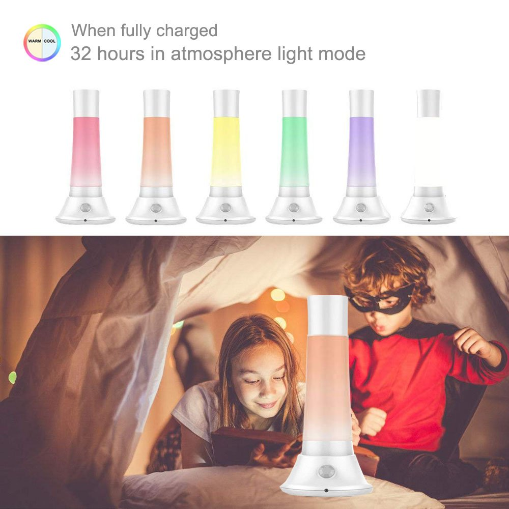 Smart Night Light - New Flashlight Atmosphere Light Camping Light Children Night Lights Lamps Rechargeable For Bedside, Bedroom, Outdoor,Emergency Flashlight, Children Lamps, PIR Smart Induction Light