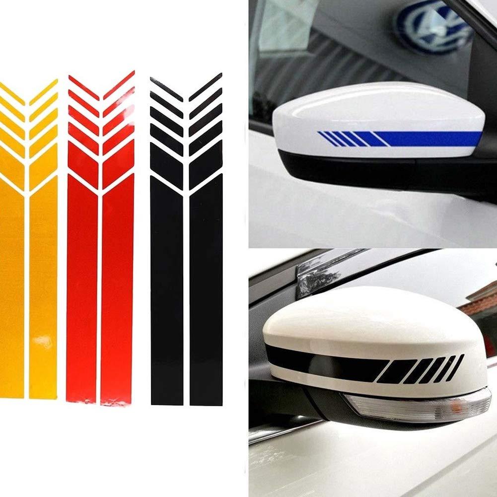 OPSLEA Un par de Pegatinas retrovisores para autom/óviles con Espejo retrovisor autoadhesivos de Flores con Rayas retrovisores de Mercedes retrovisores retrovisores