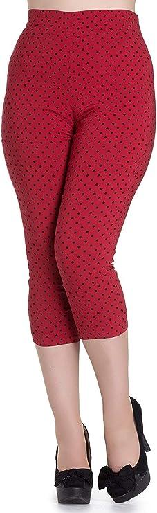1950s Pants & Jeans- High Waist, Wide Leg, Capri, Pedal Pushers Hell Bunny Kay Polka Dot 50s Vintage Style Capri Trousers 3/4 Pedal Pushers $34.99 AT vintagedancer.com