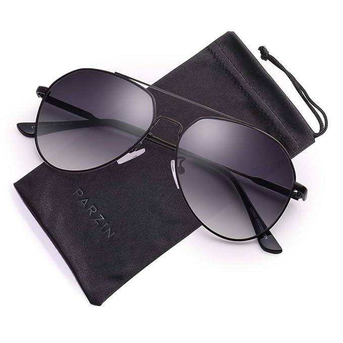 Amazon.com: Classic Aviator - Gafas de sol con espejo (marco ...