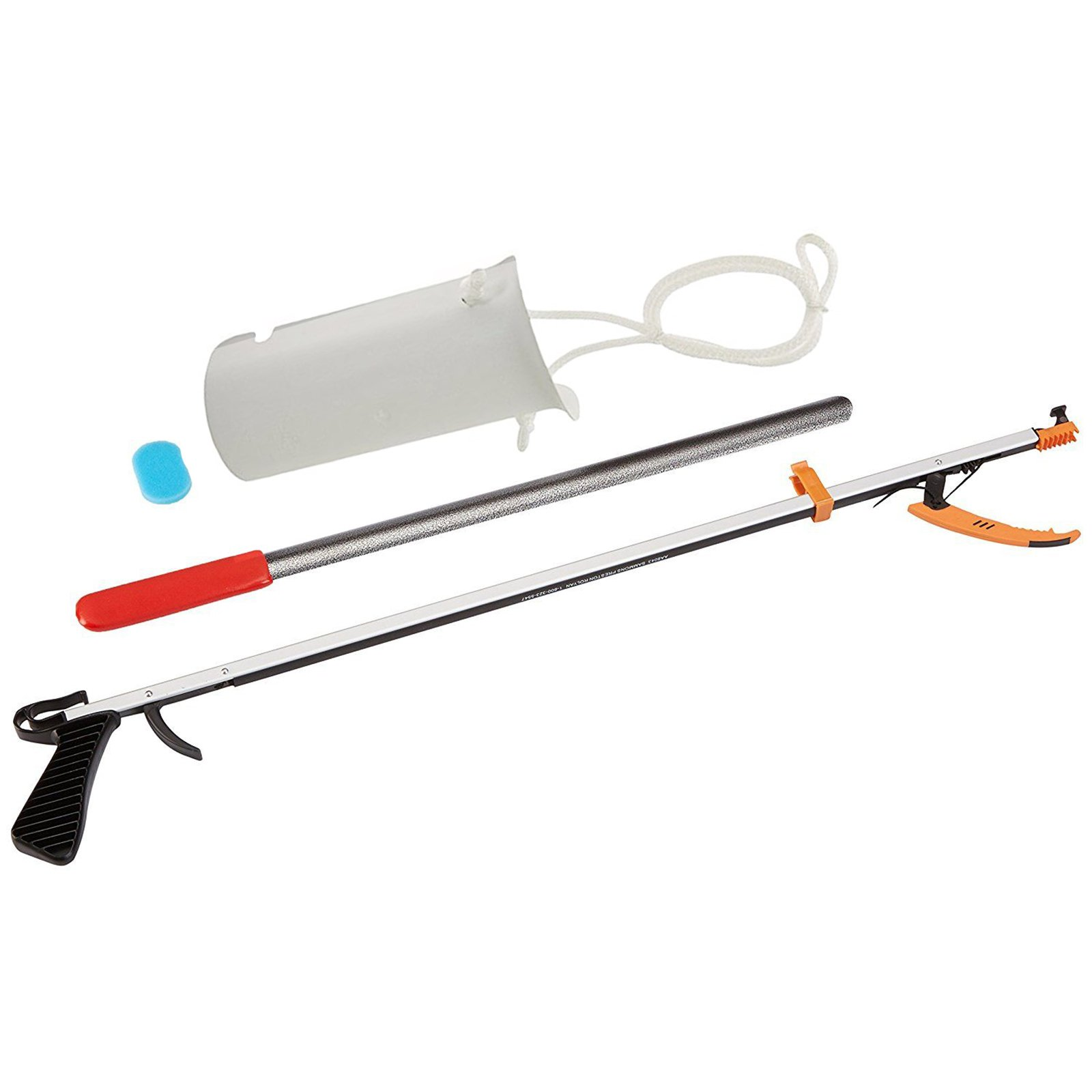 Sammons Preston Basic Assistive Device Kit II, Reaching Tools for Limited Range of Motion and Mobility, Long Handle Extension Tools, Shoehorn Dressing Aid, Sock Aid and 26'' Reacher by Sammons Preston