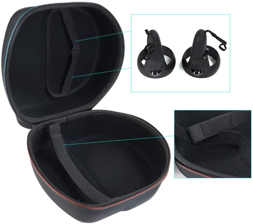 All-in-one VR Gaming Headset Storage Case and Controllers 64GB 128GB Protective Travel Box Black Carrying case for Oculus Quest