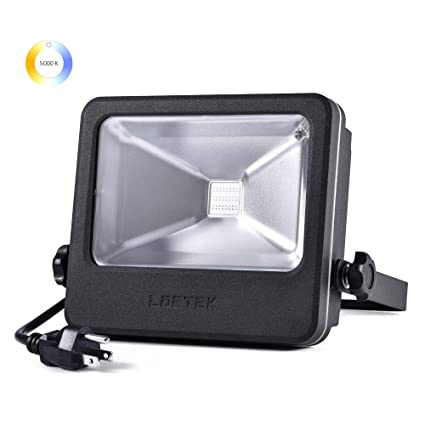 Time Limited Deals Loftek 30w Led Outdoor Flood Light 4000 Lumens Plug In Daylight White 5000k Super Bright Security Lights Ip66 Waterproof Outdoor