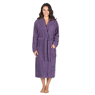 3ff56bf41d Forever Dreaming Ladies 100% Cotton Terry Towelling Hooded Robe at ...