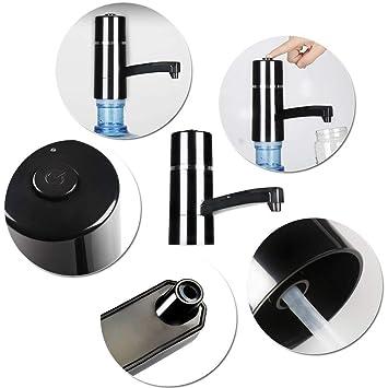 Dispensador de Bomba de Agua Recargable Dispensador Inalámbrico Eléctrico USB para Hogar y Oficina (Negro): Amazon.es: Hogar
