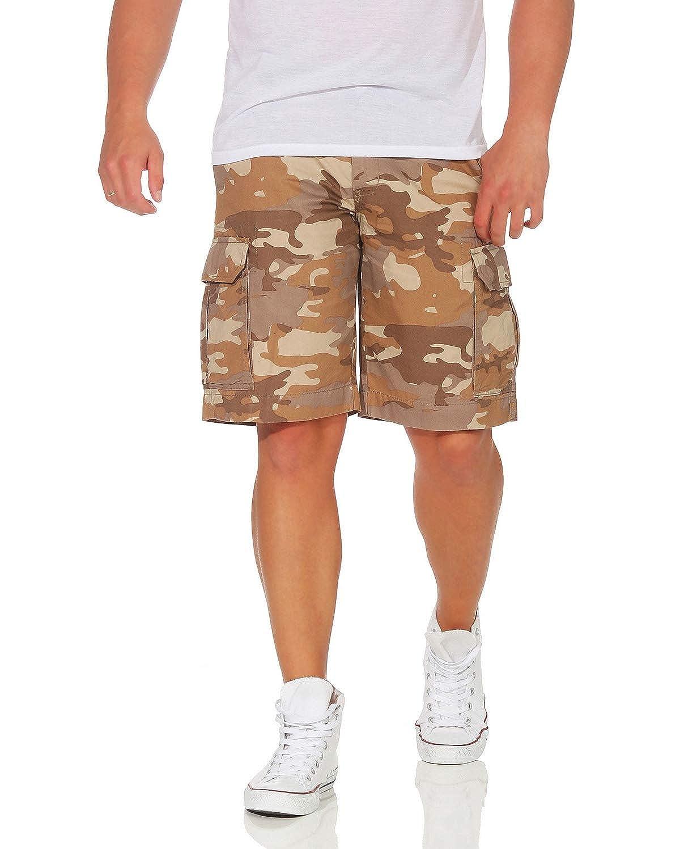 ZARMEXX Pantalón de algodón para Hombre Pantalón Corto de Bermudas Pantalón de Verano Ocio Camuflaje Ajuste Holgado