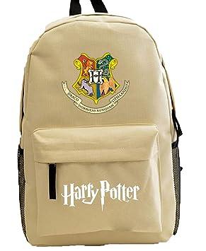 cmbyn Joven Harry Potter paño de Oxford Mochila Gryffindor Nadadores Mochila Escolar LÄSSIG Original Mochilas Laptop Grande schultasche Marrón Caqui Talla ...