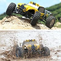New HBX 12891 1/12 4WD 2.4G Waterproof Hydraulic Damper RC Desert Buggy Truck with LED Light By KTOY