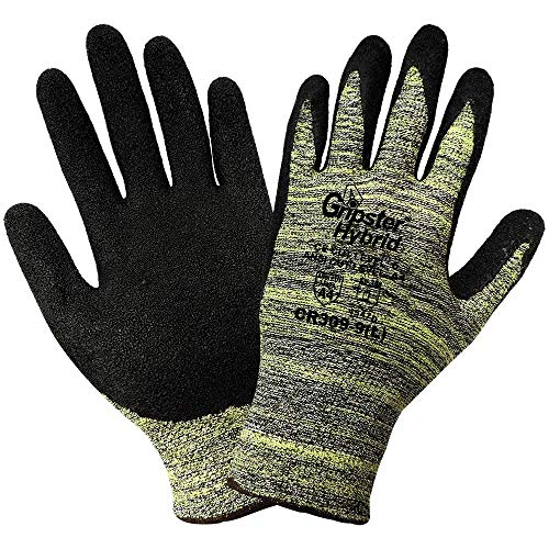 Global Glove CR309 Gripster Hybrid Rubber Coated Seamless Knit Glove, Cut Resistant, Large (Case of 72) ()