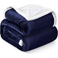 RATEL Mantas para Sofa Azul Marino 150×200cm, Mantas para Cama Mejorada…