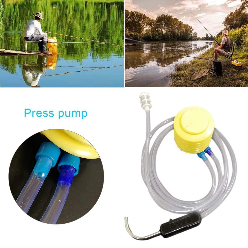 Rubyu K/öderfischeimer mit Sauerstoffpumpe Luftpumpe Set Luftschlauch Luftsteinen Wasserspender mit Wasserpumpe Pedal