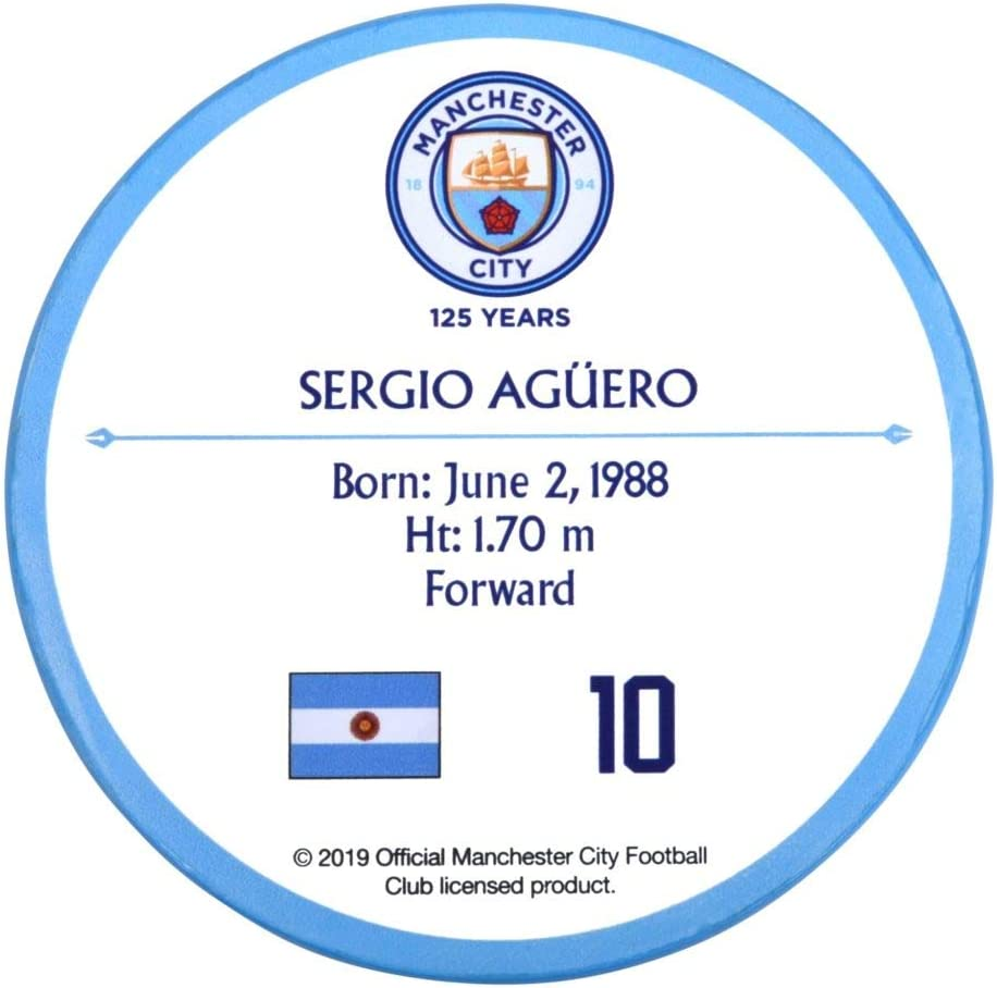 Sergio Aguero Signables 4 inches Diameter Manchester City