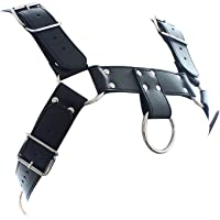 LANYHU PU leather Fashion Adjustable Leather Chest Body Harness Buckle Straps for Men