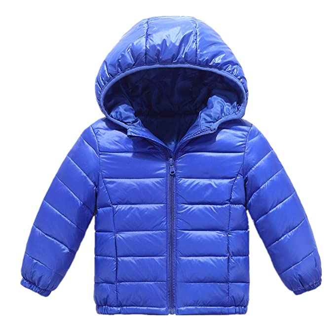 e4bd4f287331 RUI-CHENG Kid Down Outwear Boys Girls Lightweight Puffer Hooded Quilted  Puffer Coat 2-8 Y