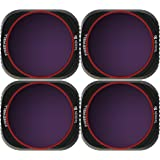Freewell Bright Day – 4K Series – 4Pack ND8/PL, ND16/PL, ND32/PL, ND64/PL Camera Lens Filters Compatible with Mavic 2 Pro Dro