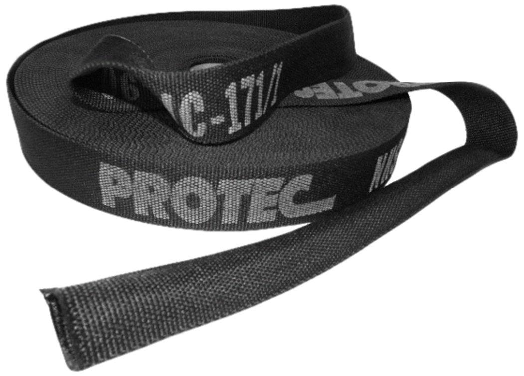 Tompkins Industries 039-NHS225-25 Nylon Protective Hose Sleeve, 2.25'' ID, 25' Length, Black