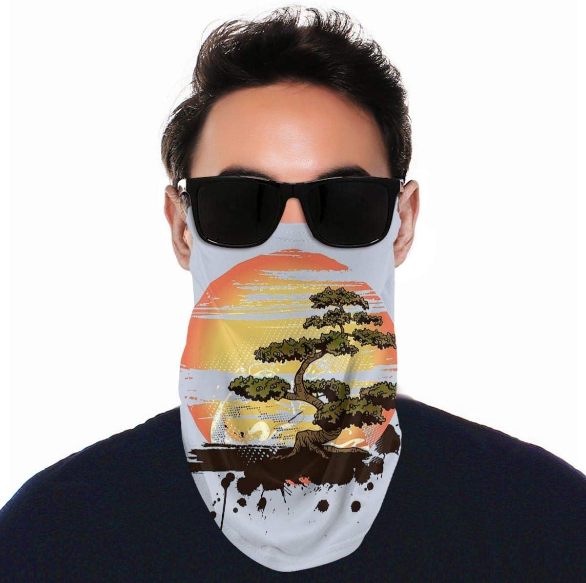 Wangqiuying19 - Pañuelo para la cara, diseño de árbol de bonsái, karate, dojo, pasamontañas para el cuello, para hombres y mujeres