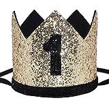 Maticr Glitter Baby Boy Girl First Birthday Crown