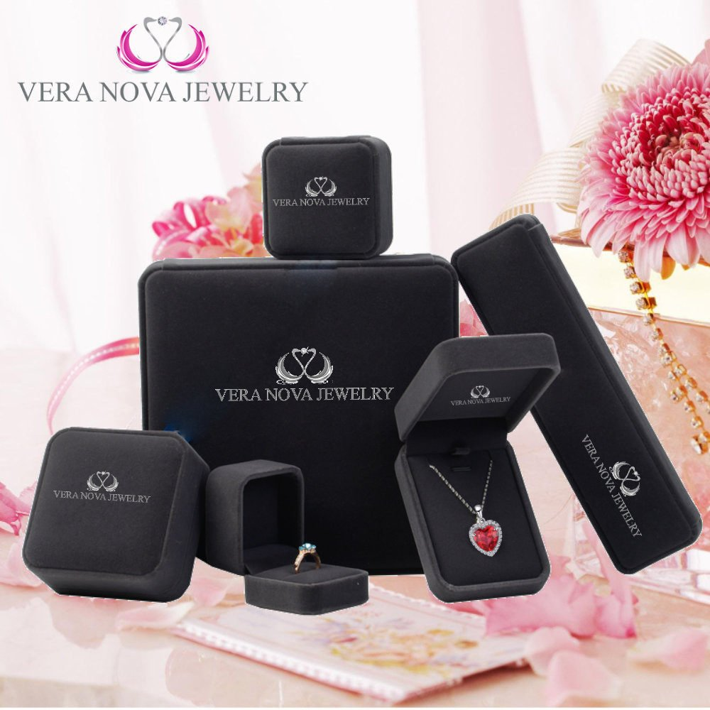 Vera Nova Jewelry Formidable Classic Square 2.8ct Synthetic Red Ruby 925 Sterling Silver Stud Earrings
