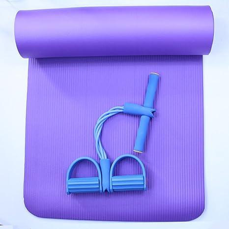 Tirar de la cuerda de la estera del yoga Sit-ups traje ...