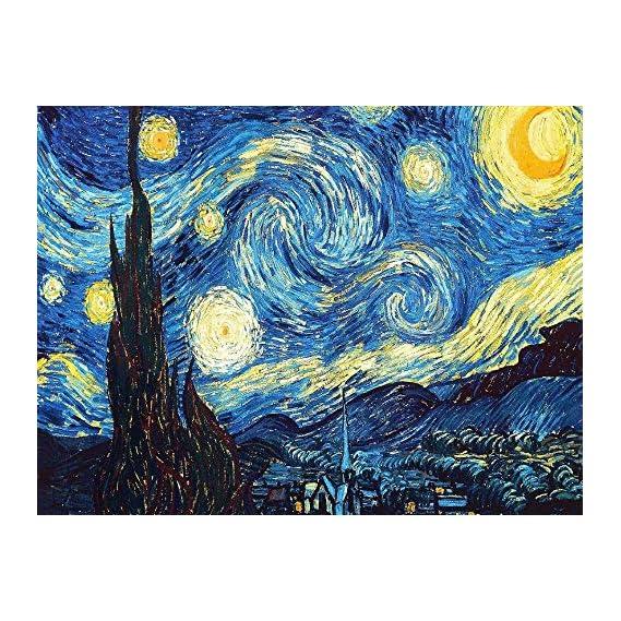 iDream Home Decoration 5D Diamond Painting Rhinestone Van Gogh Starry Night DIY Mosaic Wall Decor (30cm x 40cm)