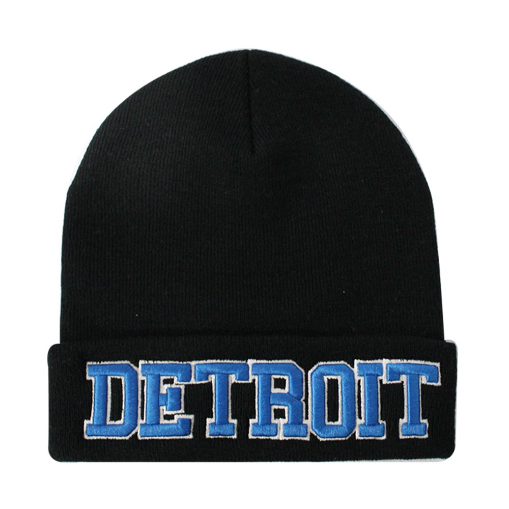 ChoKoLids Classic Cuff Beanie Hat - Black Cuffed Football Winter Skully Hat Knit Toque Cap