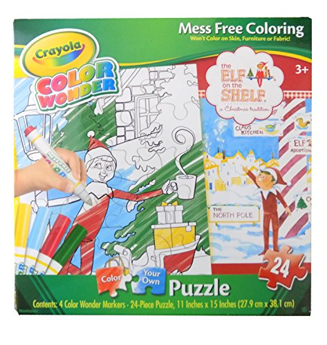 Crayola Color Wonder the Elf on the Shelf Color Your Own Puz