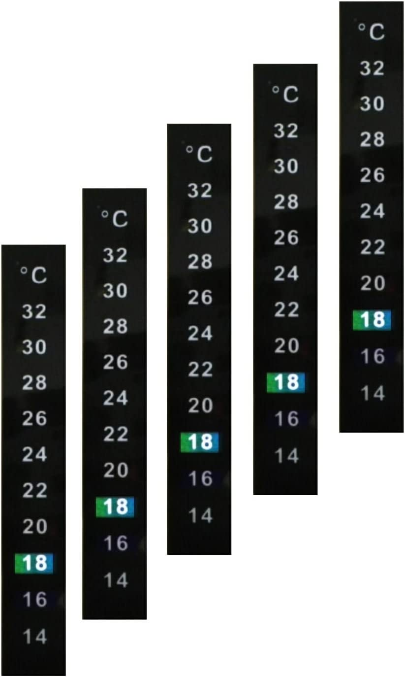 5x LCD Thermometer Stick-On Temperature Strip Self Adhesive