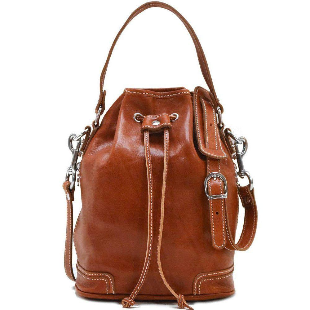 Floto Luggage Zip Pocket Ciabatta Satchel, Olive Honey Brown, Small