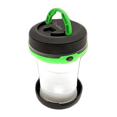 2 en 1 Camping Light Led Lampe de poche Lanterne Résistant à l'eau rabattable Idéal pour la randonnée Tente de pêche Patio de jardin Aventures en plein air Urgences Outages