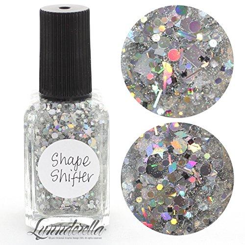 Lynnderella Multi Glitter Silver Holographic Nail Polish—ShapeShifter by Lynnderella