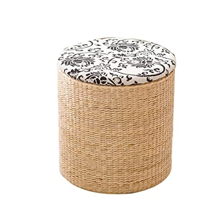 on sale 48982 a3c17 Amazon.com: Footstools YXX Small Round Storage Ottoman Bench ...