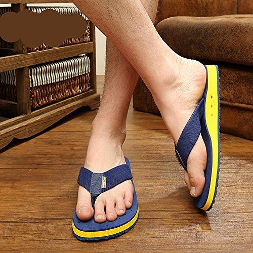 BININBOX Mens Summer Breathable Flip-Flops Beach Slippers 5 Color Blue pzEIO