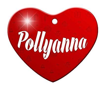 makoroni pollyanna female name christmas ornament heart shape heart holiday christmas baby - Christmas Pollyanna