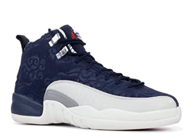 475eedf396e3 Jordan Boy s Retro 12 quot  International Flight College Navy University  Red 5.5Y M ...