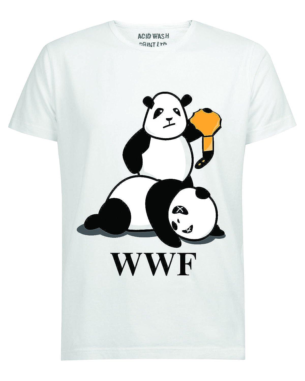 355a98403398d9 WWF PANDA WRESTLING SAVE THE PANDA FUNNY WHITE T-SHIRT (XXL BELT CHAMPION)   Amazon.co.uk  Clothing