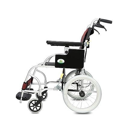 RKY Silla de Ruedas Silla de Ruedas, aleación de Aluminio Anciano discapacitado Silla de Ruedas