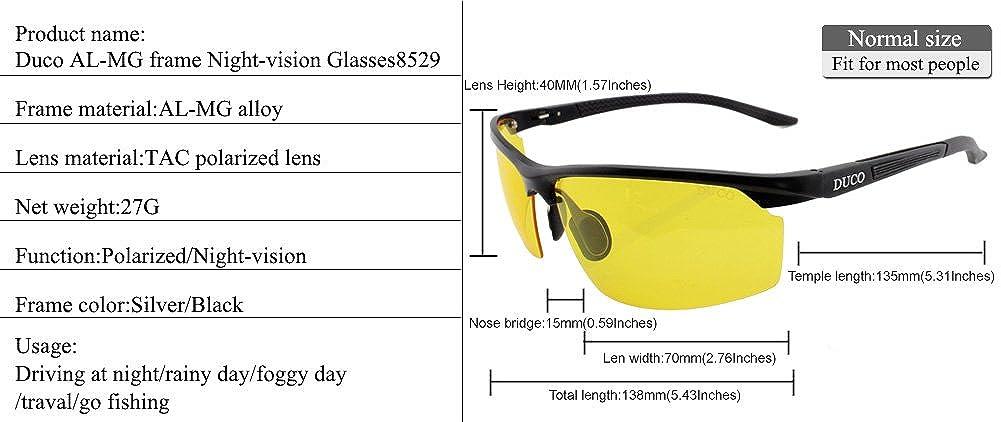 d1836846470 Duco Anti-glare Polarized Night Vision Driving Glasses for Headlight 3029  DC-3029-BLACK-EU