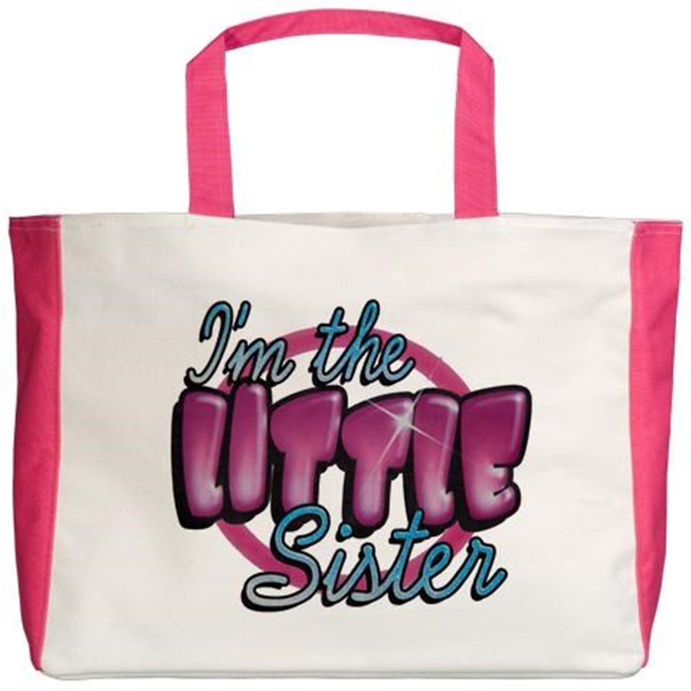 Royal Lion Beach Tote Im The Little Sister 2-Sided