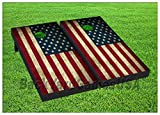 American Flag Patriotic Cornhole Boards BEANBAG TOSS GAME w Bags Vintage USA 402
