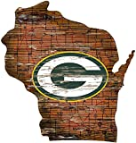 Fan Creations Green Bay Packers Distressed State Sign Wood Logo 24""