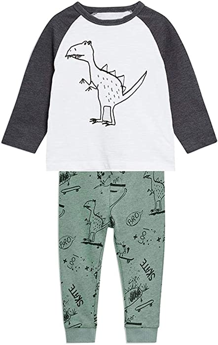 3d6dc19ee5c7 Amazon.com  Frogwill Toddler Boys Dinosaur Clothing Set 2t  Clothing