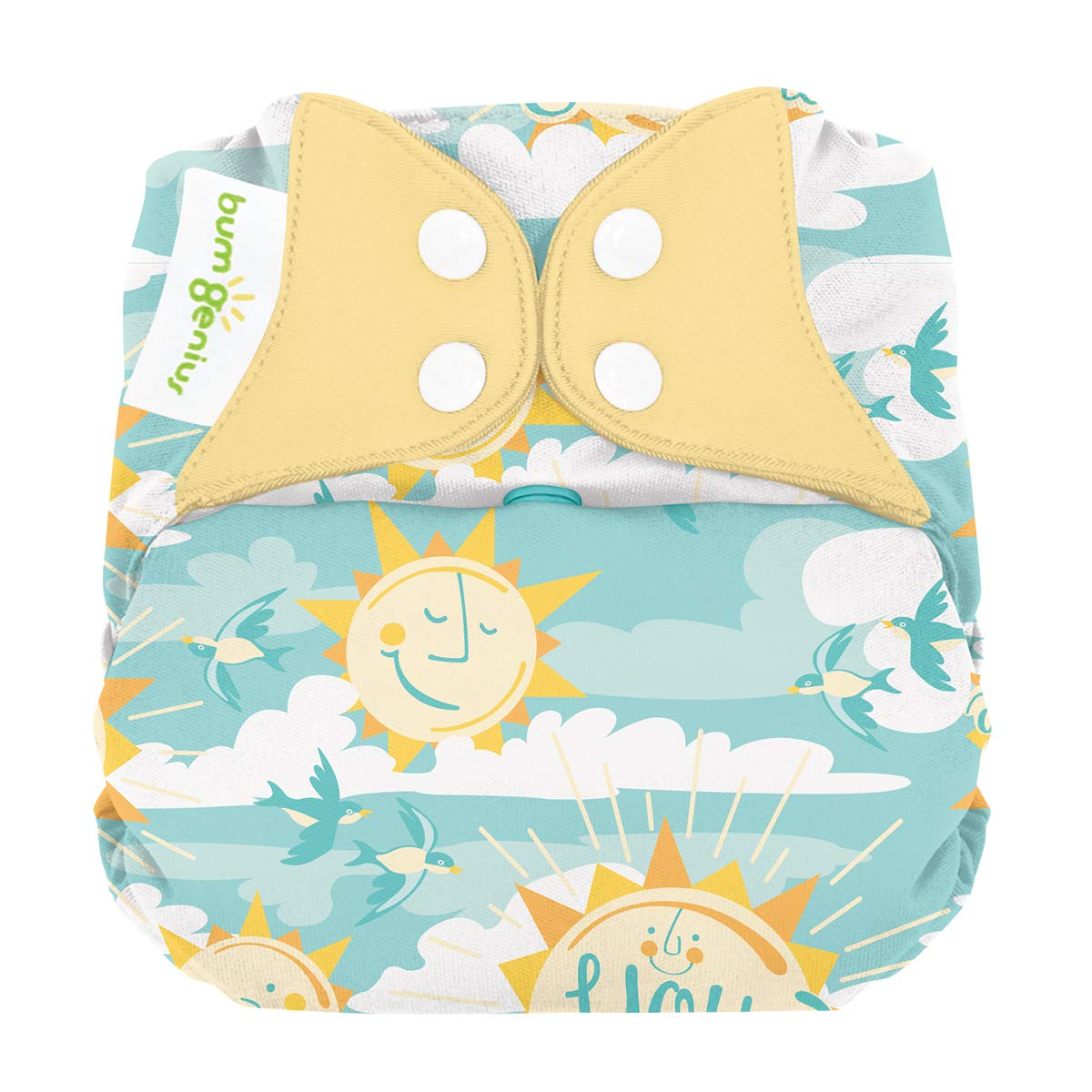 Elemental 3.0 All-in-One One-Size Cloth Diaper with Organic Cotton (My Sun)